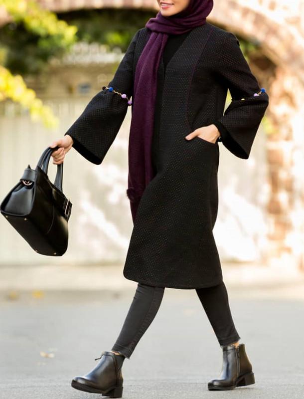 پالتو بلند زنانه مدل ژوانا