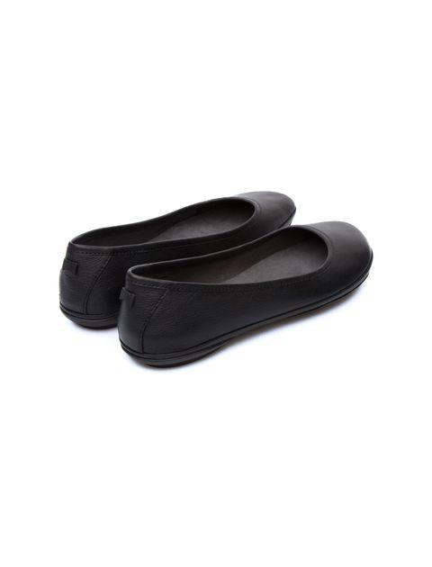 کفش تخت چرم زنانه Right Nina - مشکي - 2
