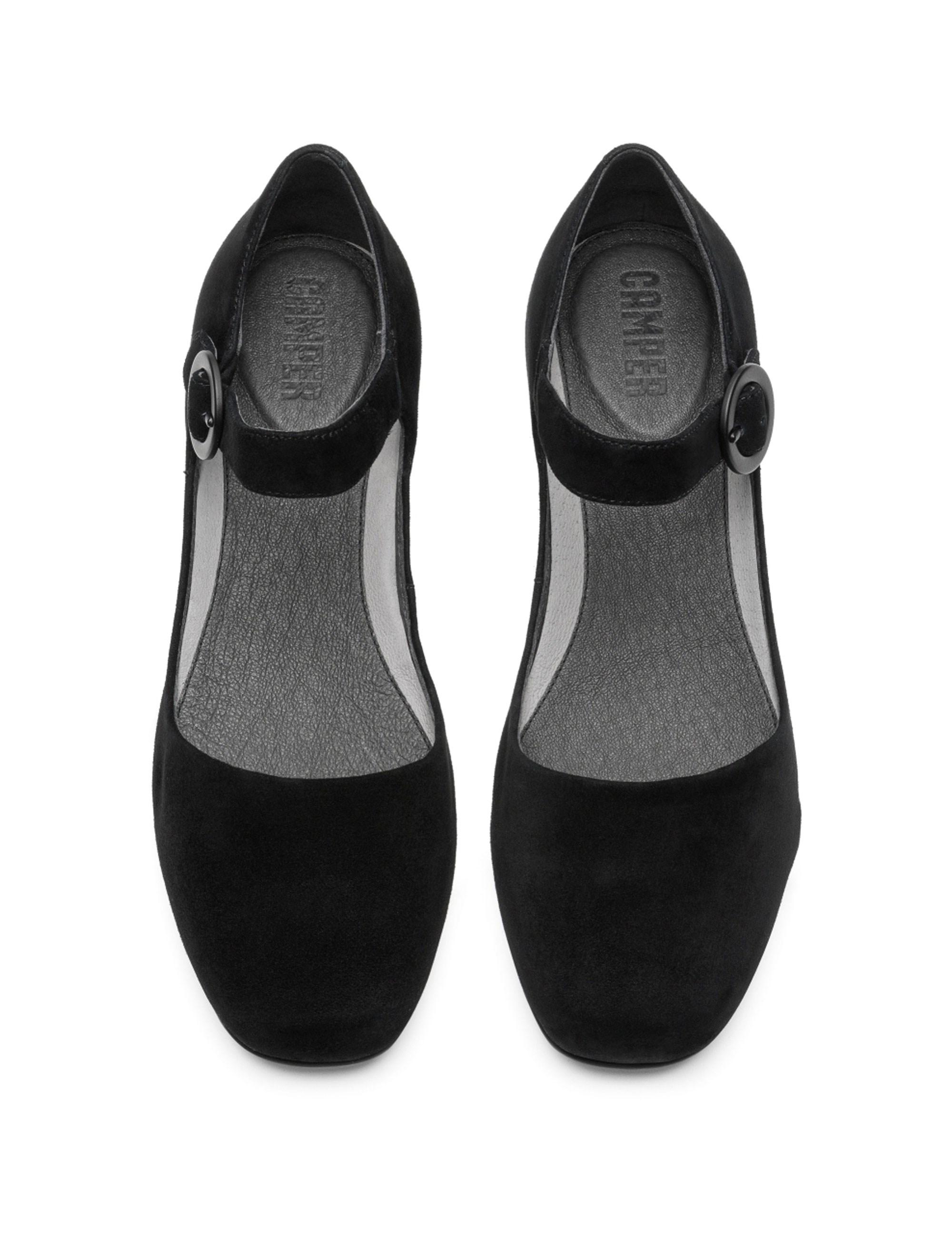 کفش تخت چرم زنانه Lucy - مشکي - 2