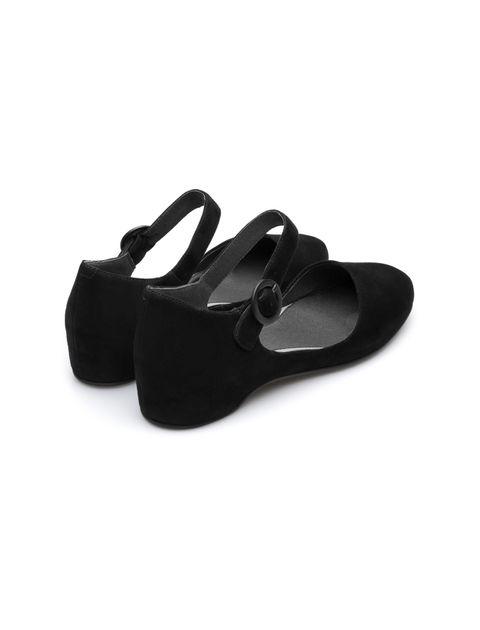 کفش تخت چرم زنانه Lucy - مشکي - 3
