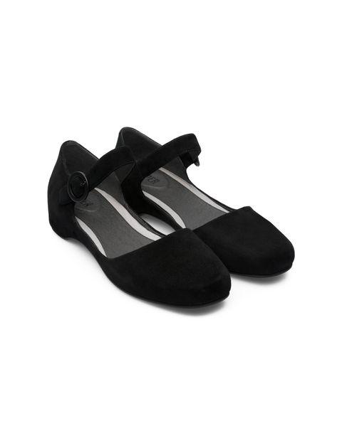کفش تخت چرم زنانه Lucy - مشکي - 4