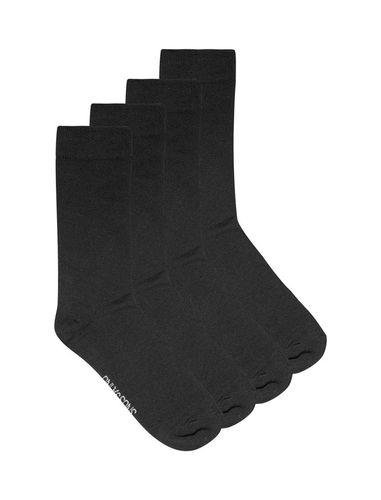 جوراب نخی ساق متوسط مردانه بسته 4 عددی