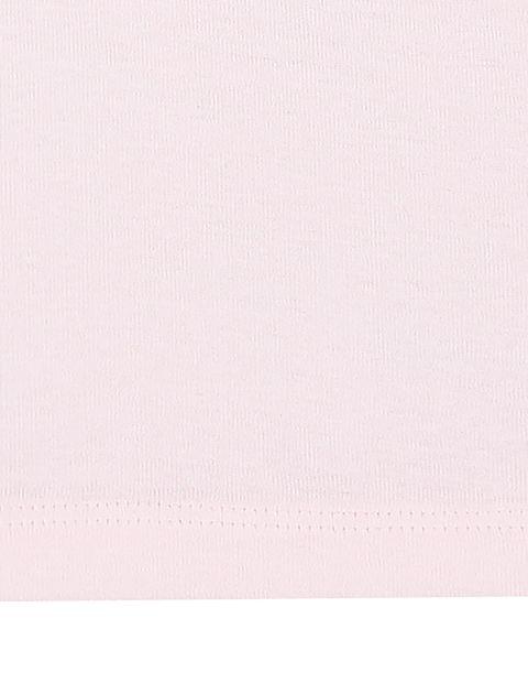 زیرپوش نخی آستین حلقه ای بسته 3 عددی - صورتي/سفيد - 6