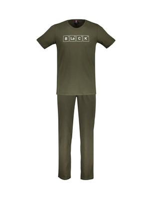 تصویر تی شرت و شلوار راحتی نخی مردانه – جامه پوش آرا