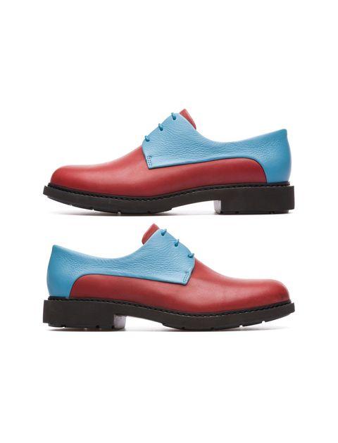 کفش تخت چرم زنانه Crucero - قرمز ، آبي - 1