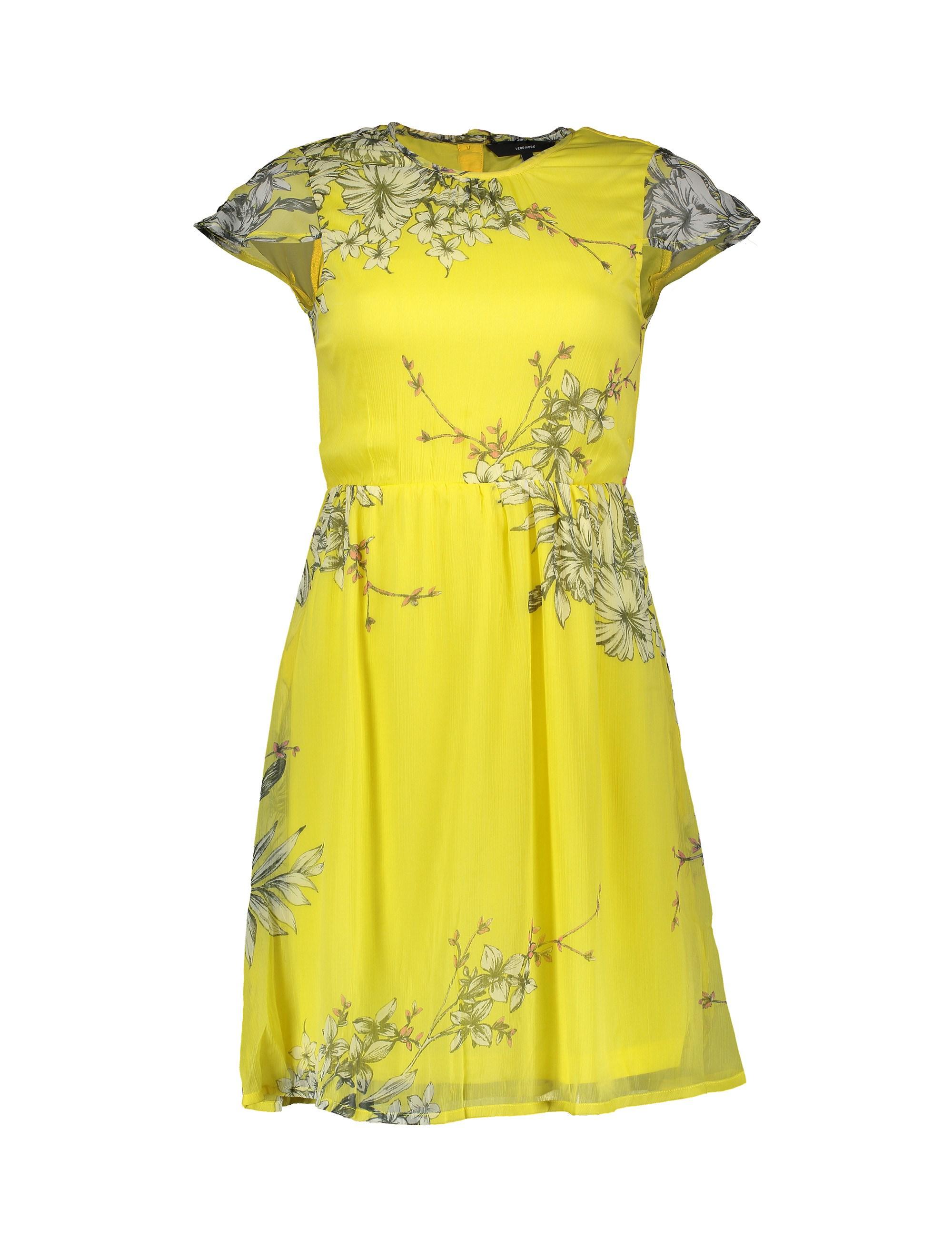 پیراهن کوتاه زنانه - ورو مدا - زرد - 1