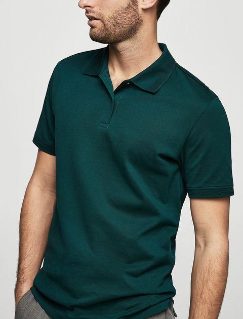 پولوشرت نخی آستین کوتاه مردانه - سبز - 2