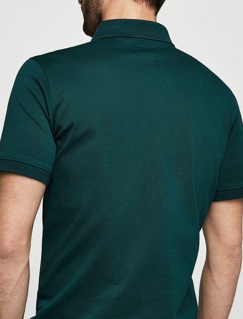پولوشرت نخی آستین کوتاه مردانه - سبز - 3