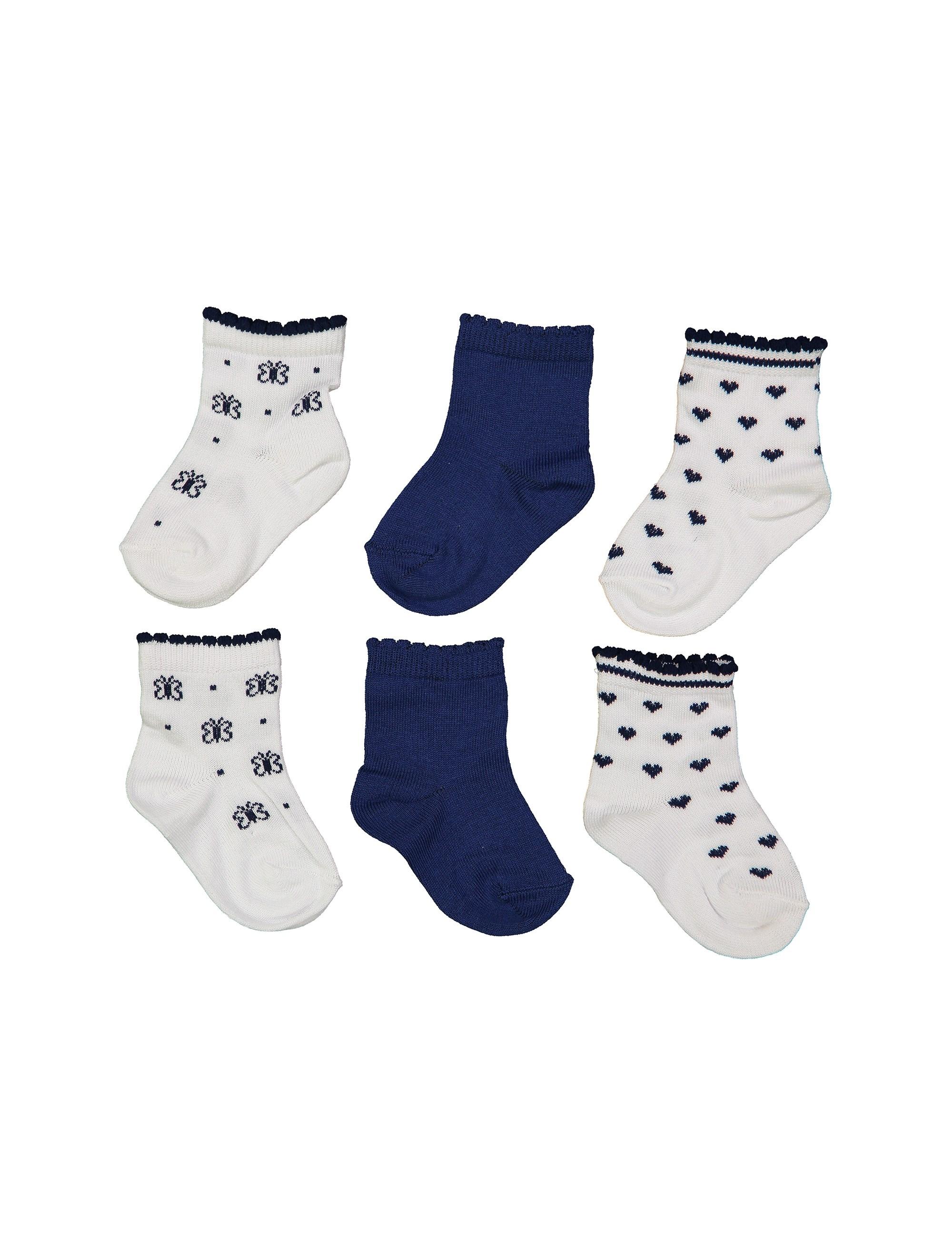 جوراب نخی دخترانه بسته 3 عددی - بلوکیدز