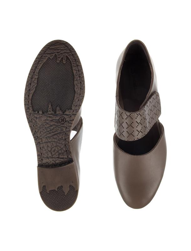 کفش تخت چرم زنانه - چرم مشهد