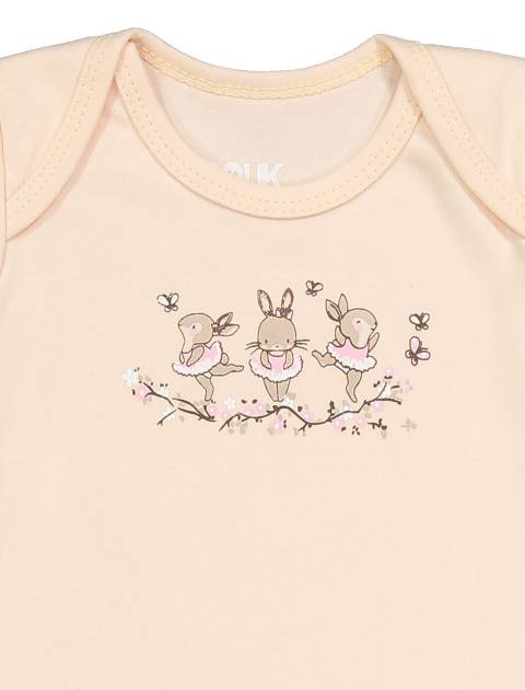 سرهمی نخی ساده نوزادی دخترانه - گلبهي - 3
