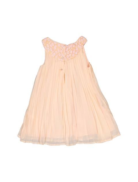 پیراهن روزمره دخترانه - بلوکیدز - گلبهي - 2