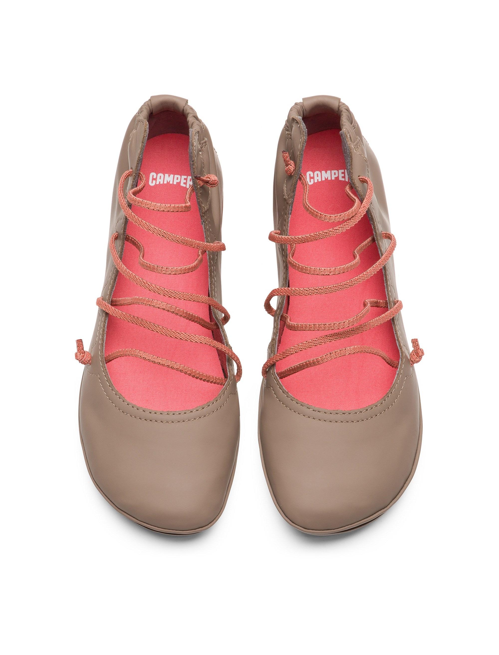 کفش تخت چرم زنانه Right Nina - بژ - 3