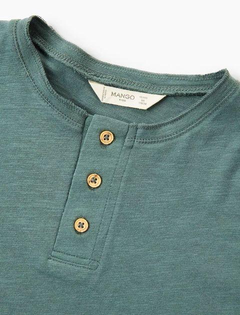 تی شرت نخی یقه گرد پسرانه - سبز  - 3