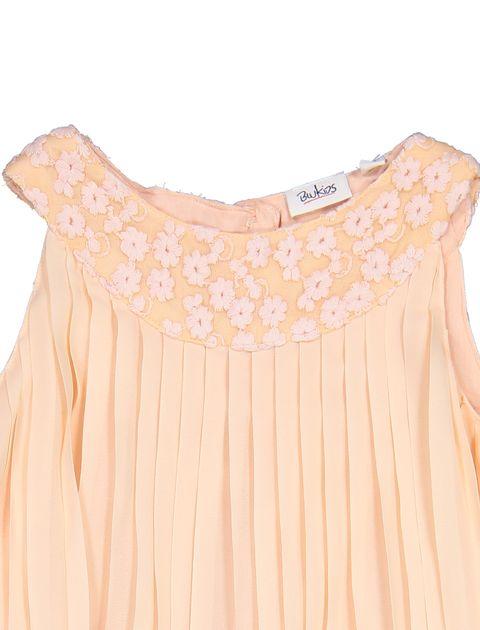 پیراهن روزمره دخترانه - بلوکیدز - گلبهي - 3