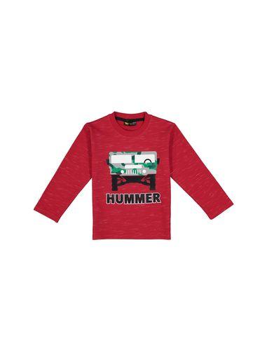 تی شرت نخی آستین بلند پسرانه Hummer - تدی بیر