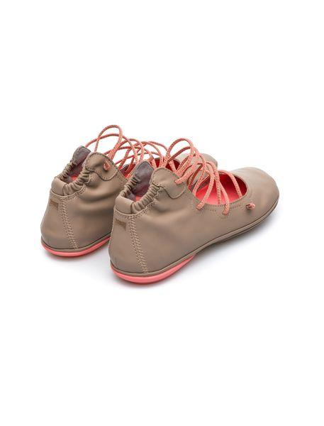 کفش تخت چرم زنانه Right Nina - بژ - 4