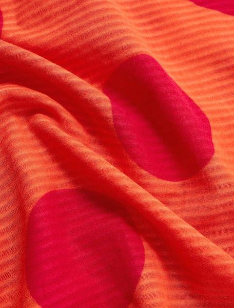 روسری نخی طرح دار زنانه - مانگو - نارنجي - 2