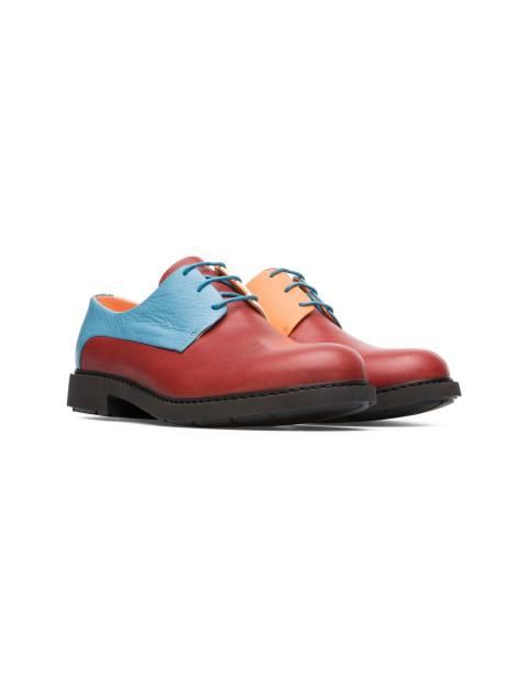 کفش تخت چرم زنانه Crucero - قرمز ، آبي - 4