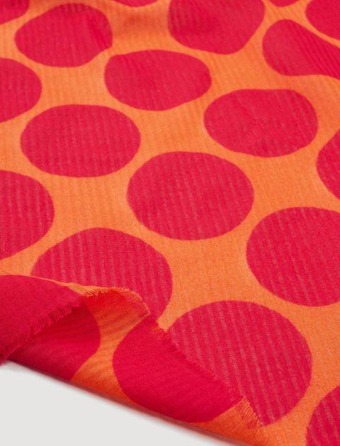 روسری نخی طرح دار زنانه - مانگو - نارنجي - 3