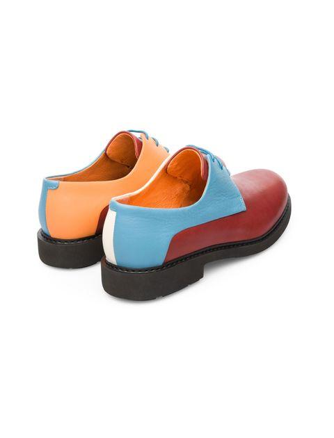 کفش تخت چرم زنانه Crucero - قرمز ، آبي - 5