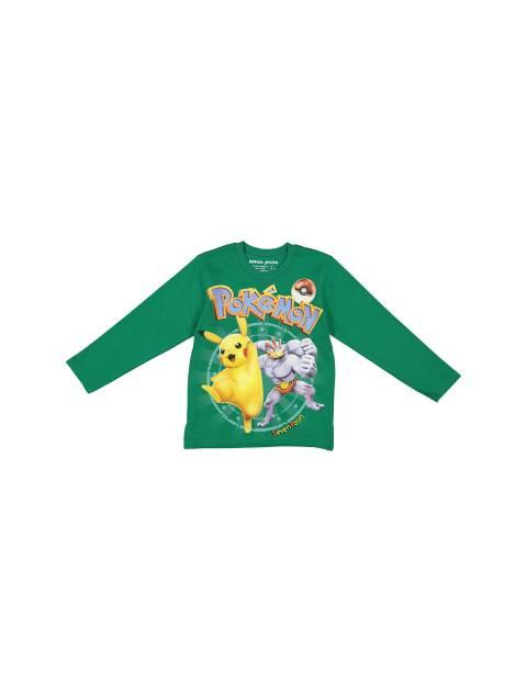 تی شرت و شلوار نخی پسرانه - سون پون - سبز - 2