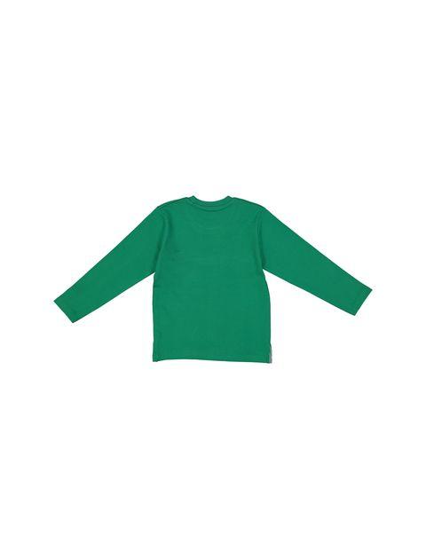 تی شرت و شلوار نخی پسرانه - سون پون - سبز - 3