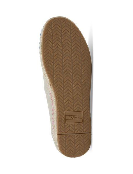 کفش تخت چرمی زنانه Espadrilles - کرم - 3