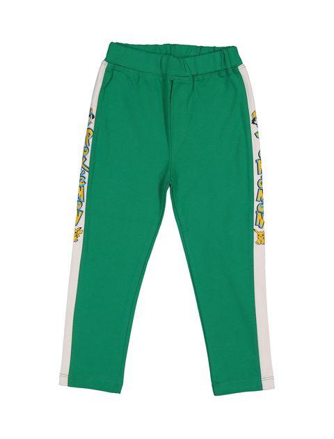 تی شرت و شلوار نخی پسرانه - سون پون - سبز - 4