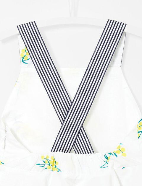 پیراهن نخی روزمره دخترانه Laque - سفيد - 3
