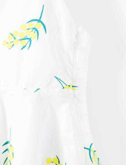 پیراهن نخی روزمره دخترانه Laque - سفيد - 4