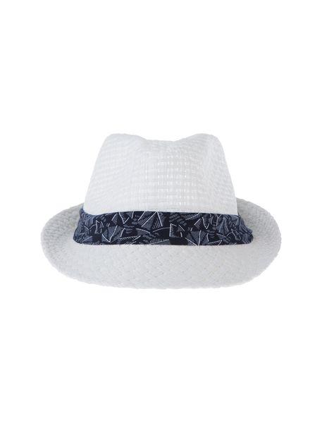 کلاه حصیری مردانه - سفيد - 1