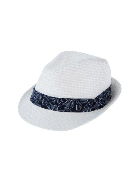 کلاه حصیری مردانه - سفيد - 2