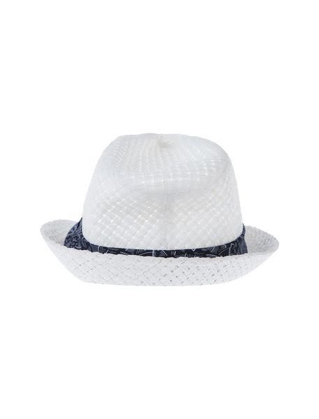 کلاه حصیری مردانه - سفيد - 3