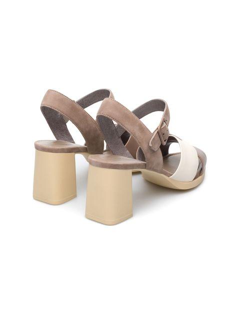 کفش پاشنه بلند چرم زنانه Kara - کمپر - بژ - 3