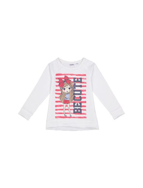 تی شرت و شلوار نخی دخترانه - بلوکیدز - سفيد/سرمه اي - 2