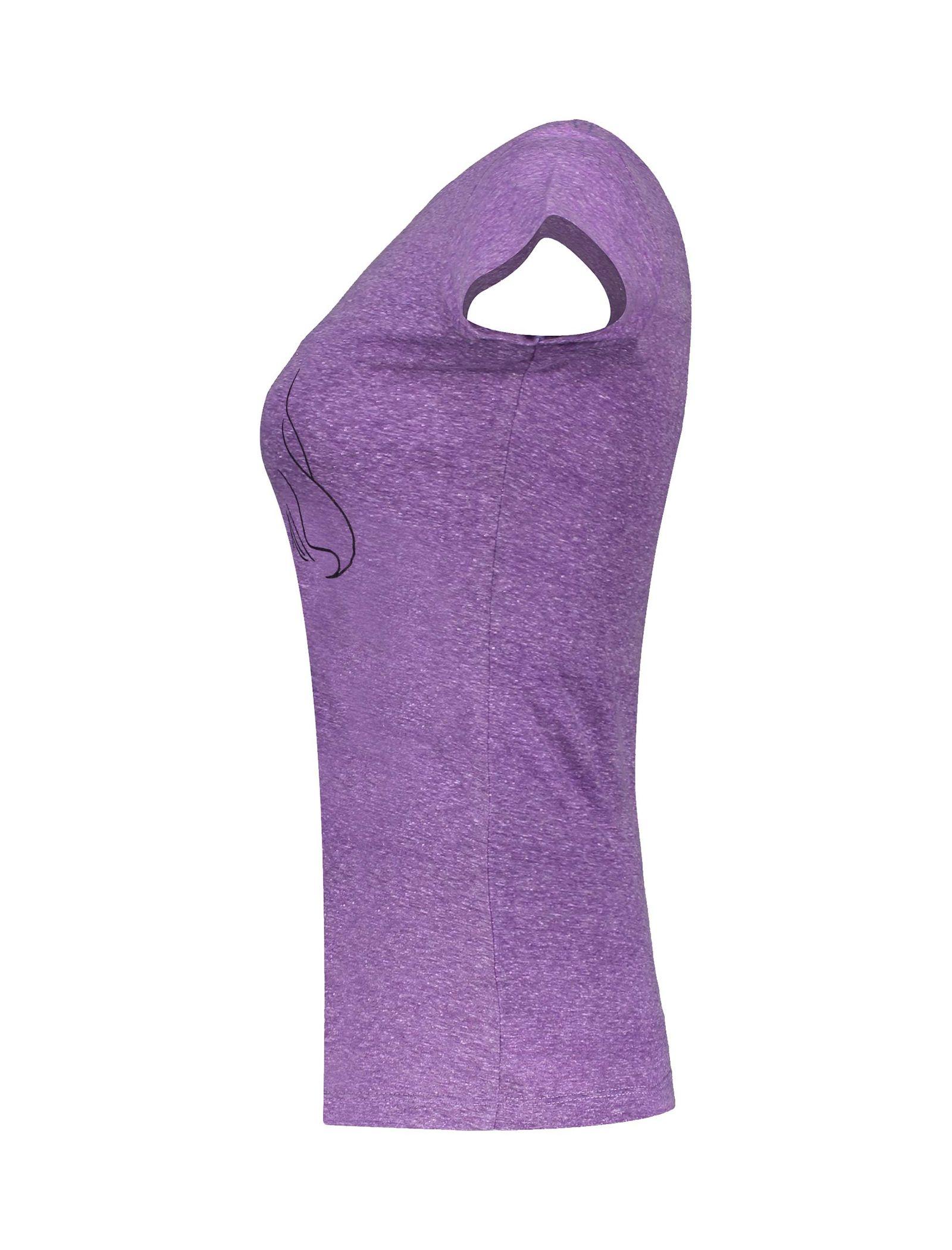 تی شرت یقه گرد زنانه - متی - بنفش - 3