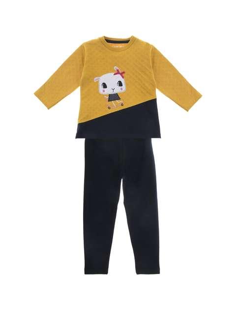 تی شرت و شلوار نخی دخترانه - سون پون