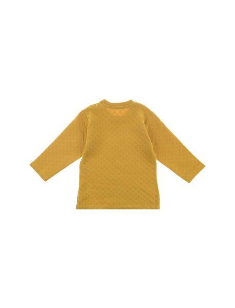 تی شرت و شلوار نخی دخترانه - خردلي/ سرمه اي - 3