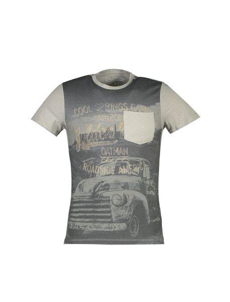تی شرت یقه گرد مردانه - طوسي - 1