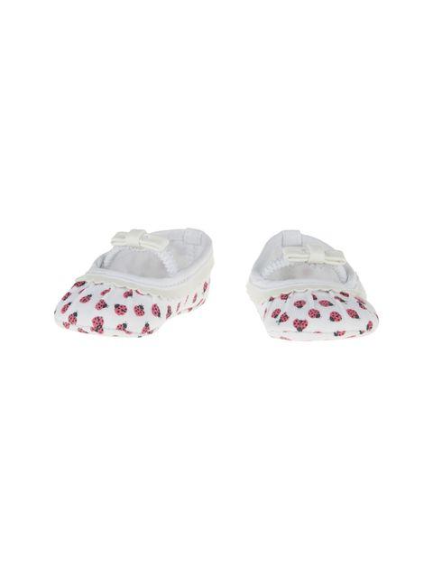 کفش نوزادی دخترانه - سفيد - 3