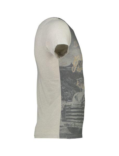 تی شرت یقه گرد مردانه - طوسي - 3