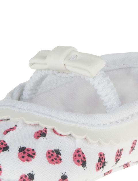 کفش نوزادی دخترانه - سفيد - 6