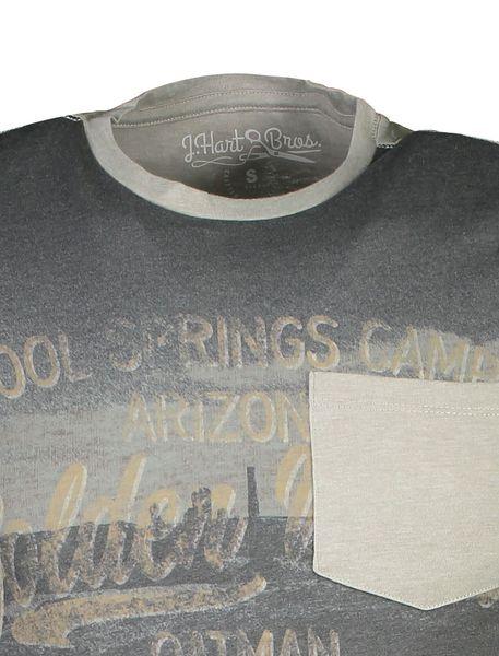 تی شرت یقه گرد مردانه - طوسي - 4