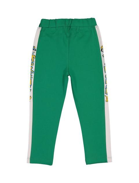 تی شرت و شلوار نخی پسرانه - سون پون - سبز - 5