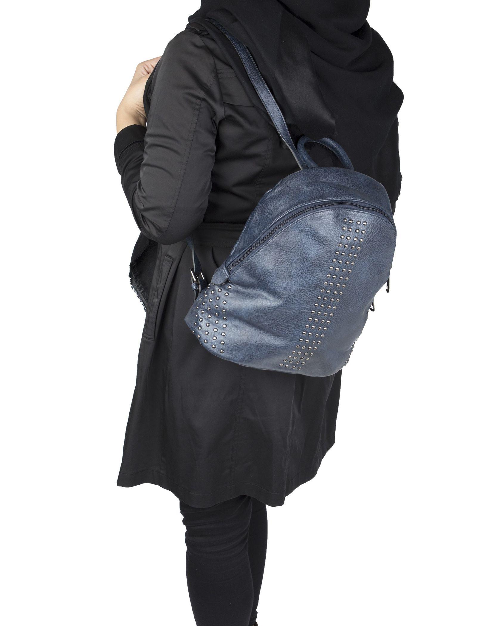 کوله پشتی روزمره زنانه - جانی اند جانی تک سایز - سرمه اي - 5