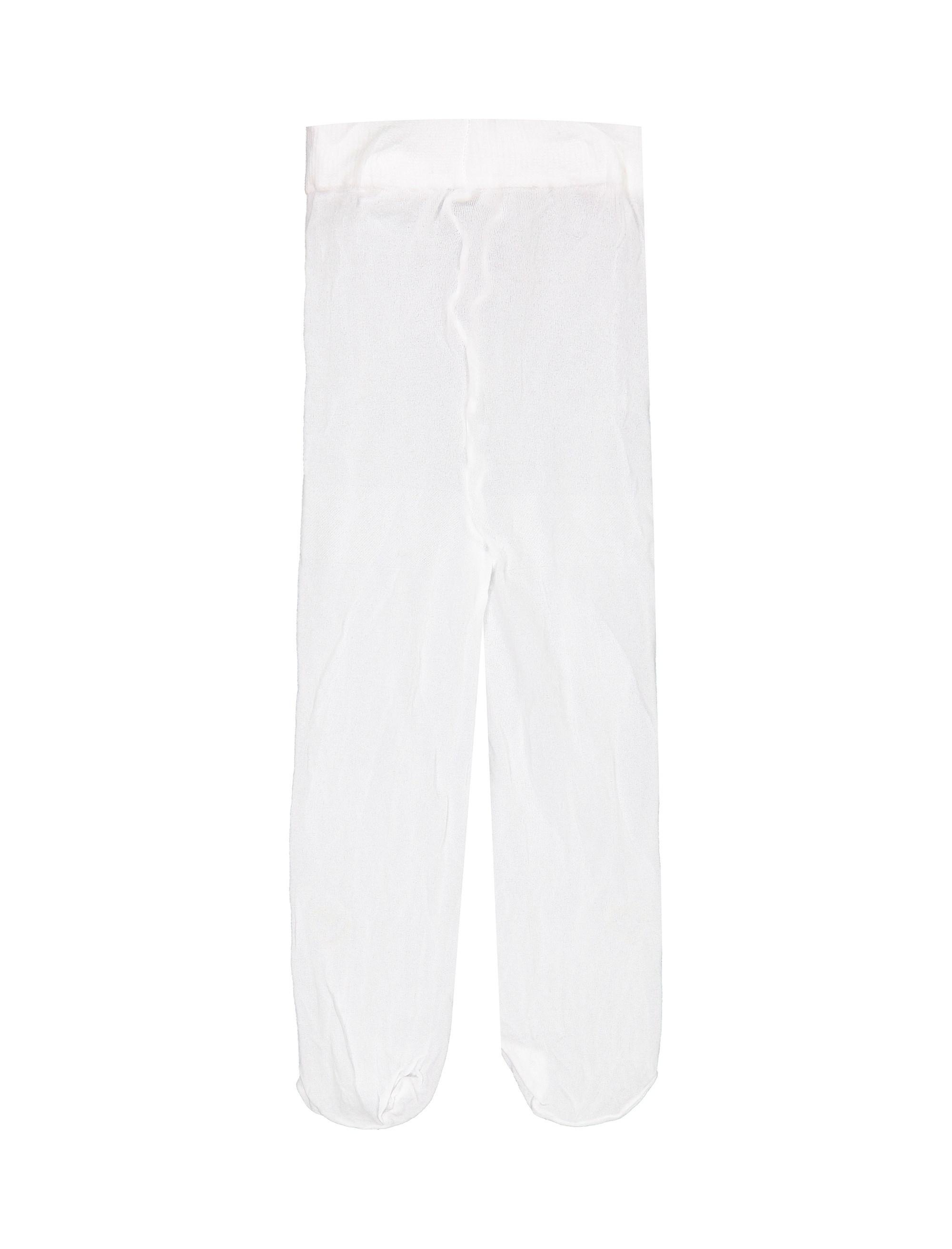 جوراب شلواری نوزادی دخترانه - ایدکس - سفيد - 2