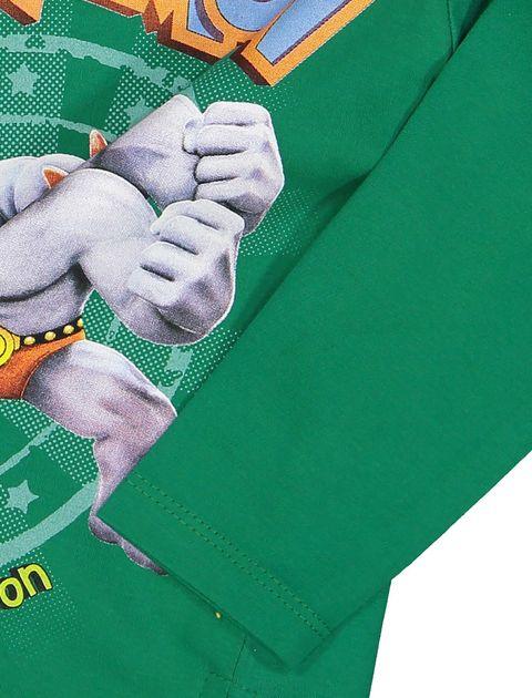 تی شرت و شلوار نخی پسرانه - سون پون - سبز - 6