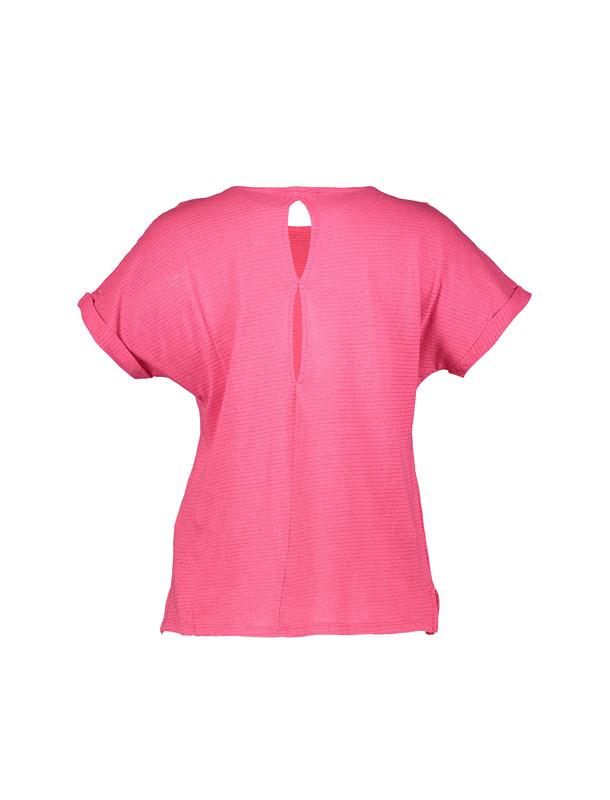تی شرت نخی یقه گرد زنانه - یوپیم
