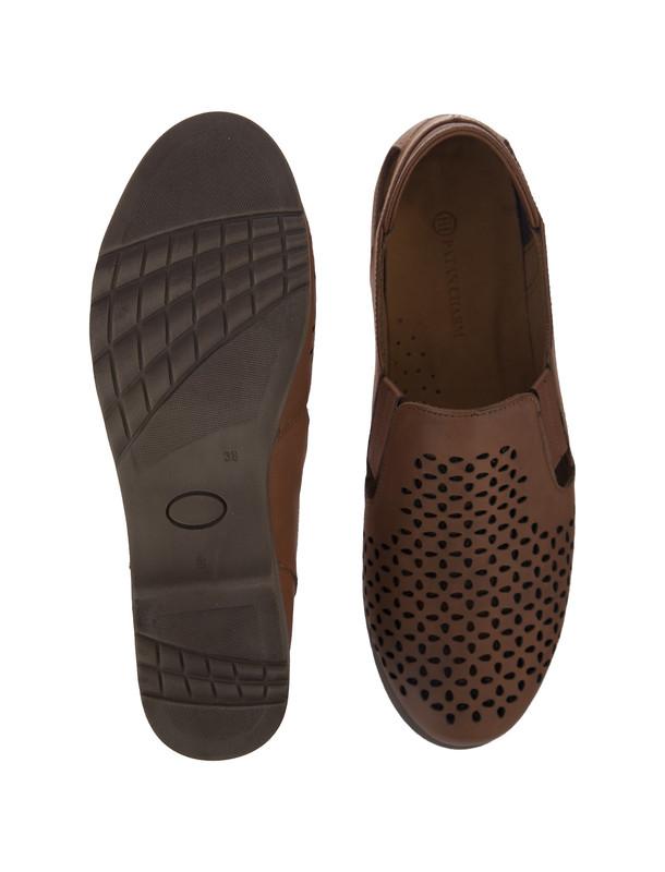 کفش تخت چرم زنانه - پاتن چرم